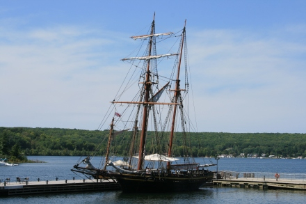 Replica of HMS Tecumseth, Discovery Harbour, Penetanguishene