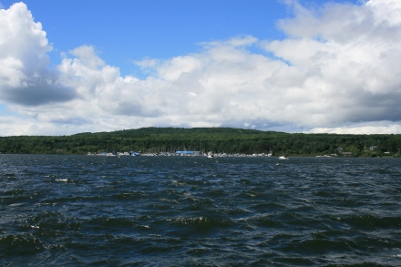 Big waves in Penetanguishene Harbour