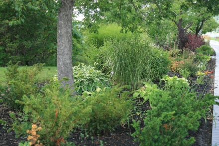 ornamental border, Champlain Wendat Park