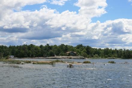 Approaching Beausoleil Island