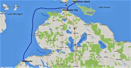 Mackinac Island to Charlevoix
