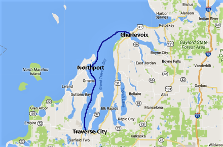 Charlevoix to Traverse City and Northport