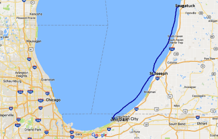 Saugatuck to Michigan City